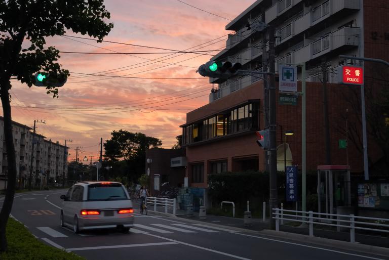 夕焼け ( リアルカラー? )