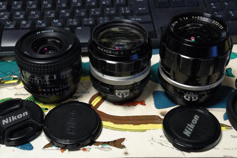 3本のNikkor 35mm