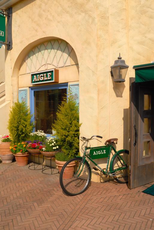 緑の自転車も