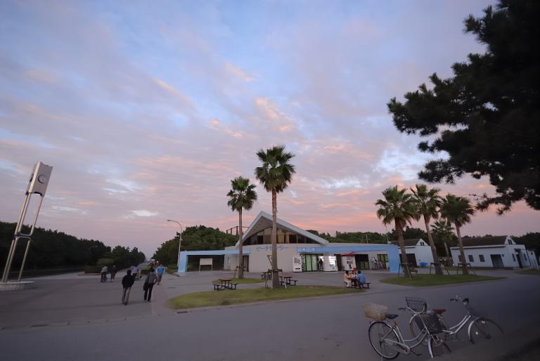 夕焼け 稲毛の浜 2