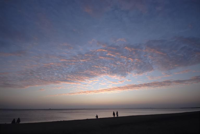 夕焼け 稲毛の浜