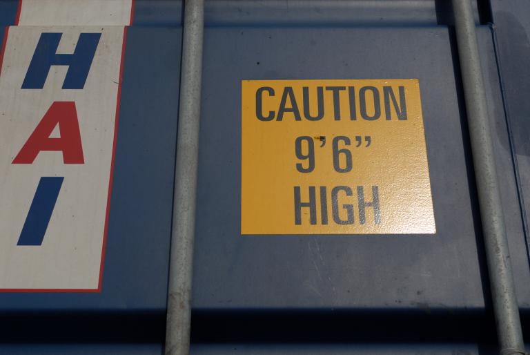 "CAUTION 9'6"""